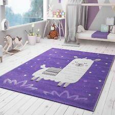 Teppich Lama König für Kinderzimmer lila