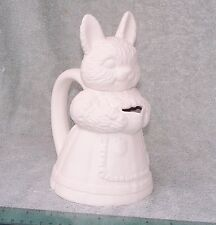 Ceramic Mrs. Bunny Pitcher, fired to 04, ready for glaze or paint