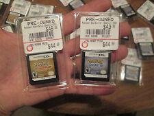 Pokemon HeartGold + SoulSilver Version Nintendo DS LOT 2 GAMES AUTHENTIC RARE