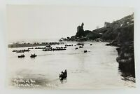 Postcard RPPC At the Mouth of Klamath Fishing Event Boats California