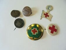 Lot of Vintage Red Cross Pins and Pinbacks