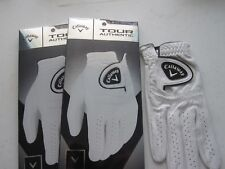 2 NEW CALLAWAY RIGHT TOUR AUTHENTIC GOLF GLOVES SIZE MEDIUM MENS