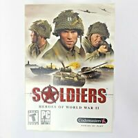 Soldiers Heroes Of World War II T-Teen PC CD Rom Games