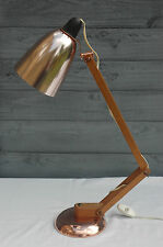 Vintage Copper with Real Wood Arm Conran Maclamp Habitat Desk Table Lamp