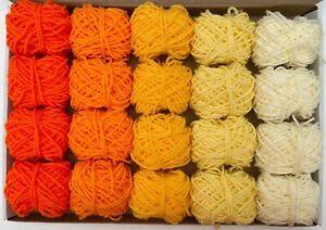 Yarn Wool Sunshine Colours Job Lot Knitting Crochet Pompom Crafts Toys Bundle DK