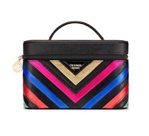 Victoria's Secret Train Case Black Hard Multicolor, New