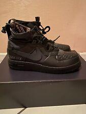 Nike Air Force 1 WTR GTX Winter Gore-Tex Triple Black CQ7211-003 Men's Size 9.5