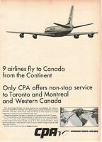 1967 Original Advertising' Vintage CPA Canadian Pacific Airlines Service Toronto
