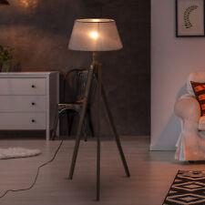 HOMCOM Free Standing Floor Lamp Bedside Light Tripod Holder Storage Shelf Linen