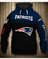 New England Patriots Hoodie Casual Hooded Sweatshirts Pullover Men's Jacket Coat