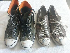 Trashed Converse used worn Skated 2 pairs size 8.5 and 9.5