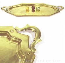 Art Deco Tablett Messing getrieben Hammerschlag Brass Tray Vienna Wien um 1925