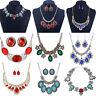 Fashion Crystal Choker Chunky Necklace Statement Bib Pendant Women Chain Jewelry