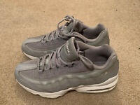 RARE Nike Air Max 95 Wolf Grey White Size 7Y Sneakers 905348-024