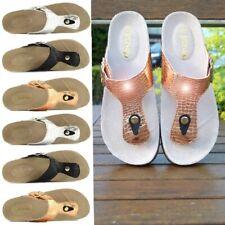 Ladies Sandals Womens Slippers Flip Flop Croc Heel  Platform Thong Beach Summer