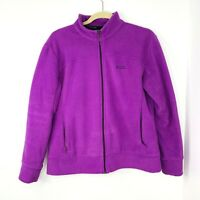 Kathmandu Altica Fleece Zip Up Purple Jacket Women's Size 14 Pockets