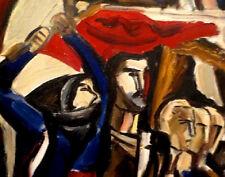 1962 RUSSIAN SOVIET REVOLUTION Socialist Realism Painting LISTED ARMENIAN Artist