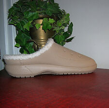 Crocs Colorlite Lined Beige TUmbleweed Roomy Clog/Shoes Mens M10/Womens W12 new