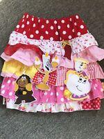 OOAK Disney Beauty and Beast Belle Enchanted Skirt Potts Lumiere Cogsworth sz YM