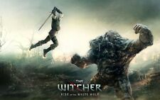 POSTER THE WITCHER 2 3 WILD HUNT WOLF LUPO GERALT OF RIVIA VIDEOGAME FANTASY #16