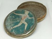 Vintage Soviet Empty Candy Tin Box - Happy New Year! USSR, Ukraine 1957