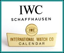 "IWC - RARE VINTAGE 1960's IWC Enameled Window Shop Display SIGN: ""Calendar"""