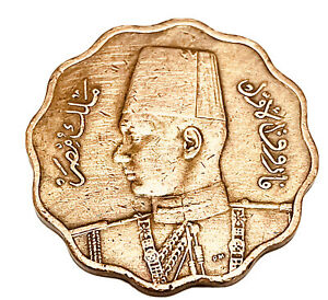 Egypt Coin 1943 AH 1362 1943 10M Red