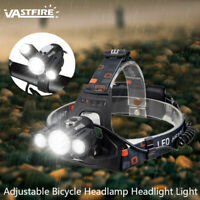 VASTFIRE 10000LM 3x XM-L T6 LED Bicycle Lamp Rechargeable Headlight Head Torch