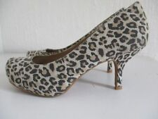 Court Shoes Animal Print Kitten Casual Heels for Women