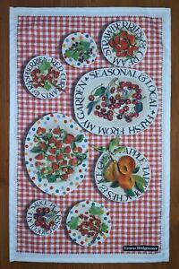 Summer Picnic cotton tea towel by Emma Bridgewater.