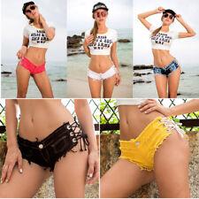 Sexy Women Mini Hot Pants Jeans Micro Shorts Denim Bikini Low Waist Shorts