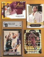 LEBRON JAMES SI ROOKIE CARD GAI MINT 9 GAME USED JERSEY + MOSAIC PRIZM REFRACTOR