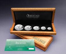 5 Münzen Libertad Silver Proof Set Mexiko Silber PP 2018