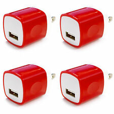 4x 1A USB Wall Charger Plug Home Power Adapter For iPhone 6 7 Samsung Android LG