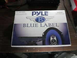 "Pyle PL683BL 6x8"" 360 Watt 3-Way Car Coaxial Audio Speakers Stereo, Blue (Pair)"