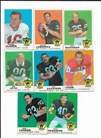 1969 Topps Oakland Raiders Team Set with Blanda, Lamonica, Otto, Davidson