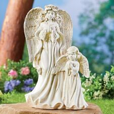 Beautiful Ivory Finish Blessed Angels Garden Statue