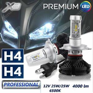 LEUCHTEN H4 2 LAMPEN LED X3 12V 8000 LUMEN FUR MOTO GUZZI STELVIO 10/'13