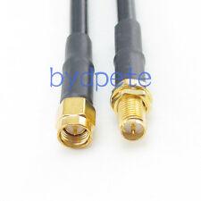SMA male to RP-SMA female RF Coaxial Coax RG58 RG58U Cable 3FT 100cm 50ohm