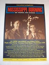 t W/3/14 DDR Filmposter Filmplakat Mississippi Burning Gene Hackman Willem Dafoe