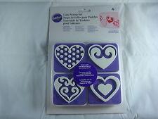 Wilton Cake Stamp Set - Hearts - 4 Piece Set - Cake Decorating
