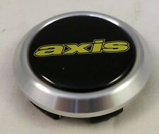 Axis Wheels Black/Chrome w/Yellow Letters Custom Wheel Center Cap Caps NEW!