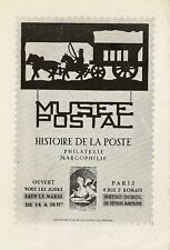 CP MUSEE POSTALE HISTOIRE DE LA POSTE 1951