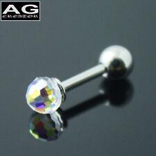 A single clear ball barbell piercing earring stud 18g US SELLER