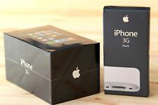  New Factory Sealed Apple iPhone 3G 8gb + New Original Dock Station