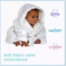 Personalised Baby Bath Robe Bonus Brush Comb & Socks Set