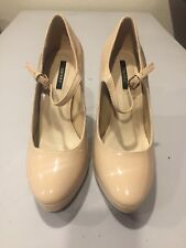 e095e68f231 New Forever 21 Nude Patent Leather Platform Pumps Womens 6