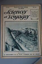 SCIENCES ET VOYAGES N° 269 de 1924 RENFLOUEMENT FLOTTE ALLEMANDE PAR ANGLAIS