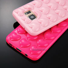 3D Love Soft Silicone Rubber Cute Cartoon Phone Case Cover Back For Samsung S7/7