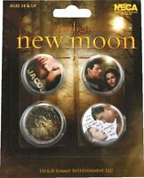 Twilight Jacob Black Taylor Lautner Bella New Moon 4 Buttons Pins Anstecker NECA